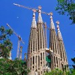 Building of Sagrada Familia church. Barcelona, Spain. — Stock Photo