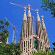 Building of Sagrada Familia church. Barcelona, Spain. — Stock Photo