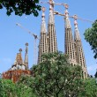 Unfinished Sagrada Familia church. Barcelona, Spain. — Stock Photo