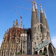 SagradFamiligothic temple building. Barcelona, Spain. — Stock Photo #7992597