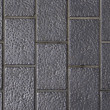 Side walk made of dotted gray bricks. Good as backdrop or backgr — Stock Photo