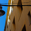 Typical architecture and street light of Lloret de Mar. Costa Br — Stock Photo