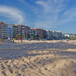 Cityscape of Lloret de Mar spanish town. Mediterranean sea. — Stock Photo