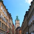 Old Stockholm narrow street. Sweden Europe. - Stock Photo