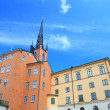 Architecture view of old central Stockholm, Sweden. - Stock Photo