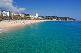 Seascape of Lloret de Mar beach, Spain. More in my gallery. — Stock Photo