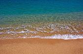 ładnym na plaży lloret de mar, costa brava, s — Zdjęcie stockowe