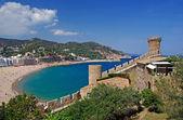 海岸 de mar,布拉瓦海岸西班牙的城市景观。更多在我 galler — 图库照片