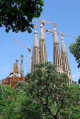 Unfinished Sagrada Familia church. Barcelona, Spain. — Stock Photo