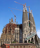 Sagrada Familia gothic temple building. Barcelona, Spain. — Stockfoto