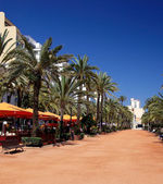 Lloret de Mar main alley on the seashore. Costa Brava, Spain. — Stock Photo
