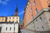 Architecture view of old central Stockholm, Sweden. — Stock Photo