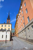 Architecture view of old central Stockholm. Swefen, Scandinavia — Stock Photo