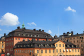 Cityscape of old central Stockholm, Sweden. — Stock Photo