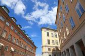 Stockholm architektura pohled, staré město, gamla stan. — Stock fotografie