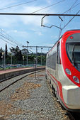 Train on station. Spain, Europe. — Stock Photo