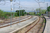 Rail way station in Blanes, Spain. — Stock Photo