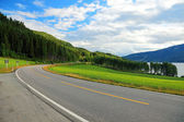 Road from Oslo to Bergen in Norway. — Stock Photo