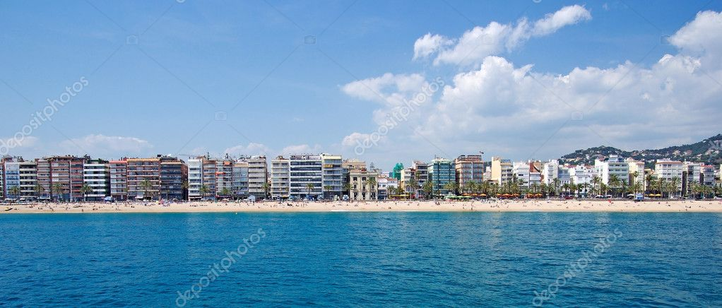 Panoramic view of Lloret de Mar, Costa Brava, Spain. — Stock Photo #7991883