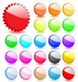 Set of 3D vector stars with shadows. Perfect for icons or adding — Stock Vector