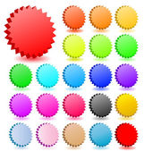 3D vector star badgeswith shadow collection. Perfect for icons — Stock Vector