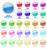 коллекция цветных векторных элементов. идеально подходит для текста или значки — Cтоковый вектор