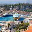 Beautiful harbor od Nice with big cruise ships, France, Europe. — Stock Photo #8108084