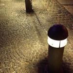 Modern street light. Copenhagen at night, Denmark, Europe. — Stock Photo #8108206