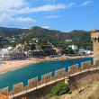 View of Tossa de Mar village from old castle, Costa Brava, Spain — Stock Photo #8109535