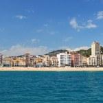 Panoramic view of Lloret de Mar city, Costa Brava, Spain. — Stock Photo