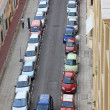 Small street of Nice city with lot od parked cars, France, Europ — Stock Photo #8109604