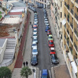 Small street of Nice city with lot of cars. — Stock Photo