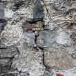 Very old damaged wall with cracks. Good as textured background. — Stock Photo