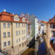 Certovka river in old central Prague. — Stock Photo