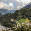Stock Photo: Modern complex infrastructure of swiss alps, Europe.
