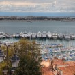 Stock Photo: Cannes during springtime before festival, tungsten day.