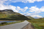 Bellissimo panorama sulla strada da bergen a euro di oslo, norvegia — Foto Stock