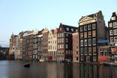 Old historic houses in Amsterdam, Netherlands, Europe. — Stock Photo