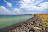 Panoramic view of Oresundsbridge between Sweden and Denmark, Sca — Stock Photo