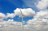 Wind power generator and blue sky, France, Europe. — Stock Photo
