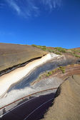 La Tarta, sediment layers outcrop. El Teide volcano national par — Stock Photo