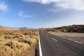 Weg naar el teide vulkaan, nationaal park op het eiland tenerife, cana — Stockfoto