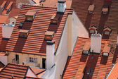 Houses in Prague, covered with tile. — Zdjęcie stockowe