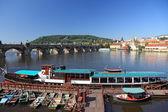 View of central bridge in Prague, Czech Republic. — Stock Photo