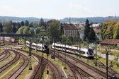 Swiss demiryolu İstasyonu kreuzlinge, İsviçre. — Stok fotoğraf