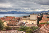 Cannes view during tungsten spring day before festival, France. — Stock Photo