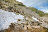 Melting snow in summer, swiss Alps, Europe. — Stock Photo