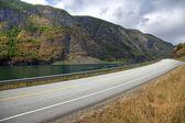 Paesaggio pittoresco e strada norvegese, europa scandinava. — Foto Stock