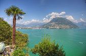 Picturesque swiss lake landscape, Europe. — Stock Photo