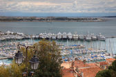 Cannes during springtime before festival, tungsten day. — Stock Photo
